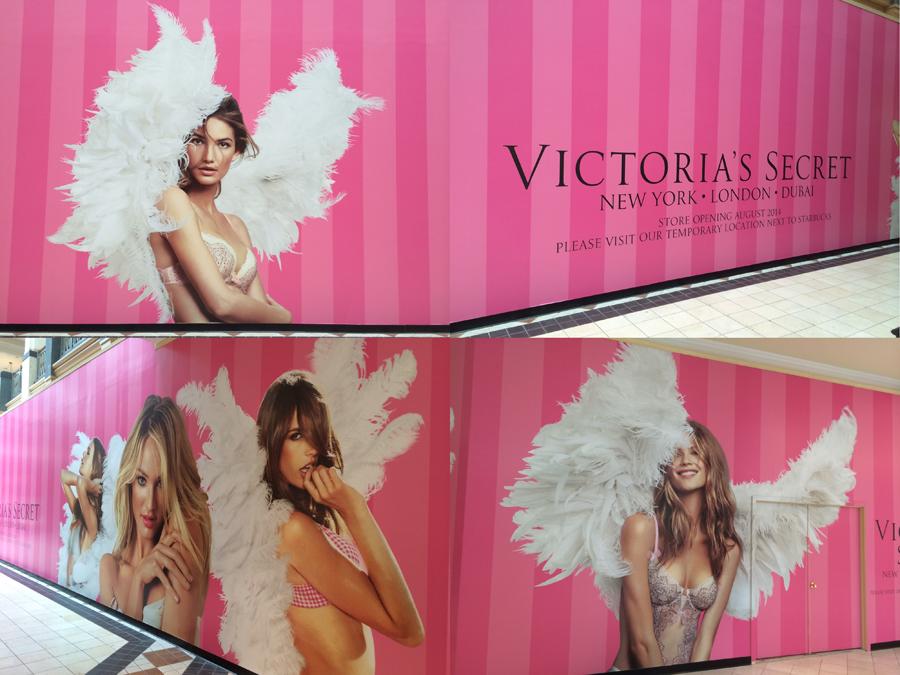 Victoria's Secret Compilation wall Sign Studios