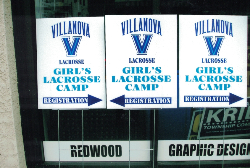 Villanova Lacrosse colleges Sign Studios