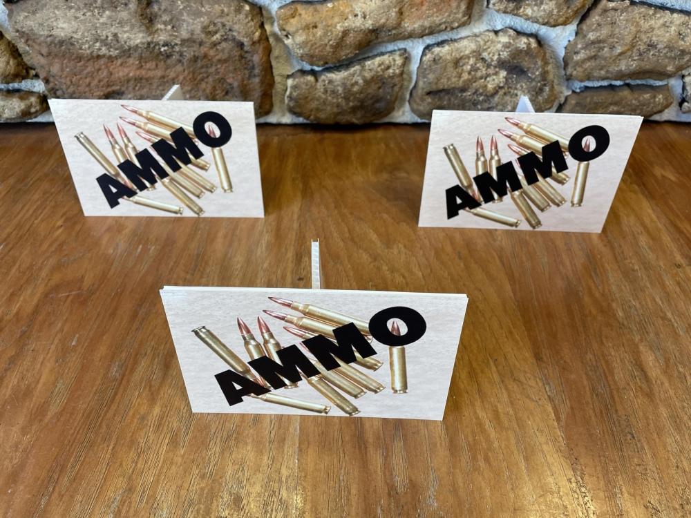 Gun Show Ammo Signs
