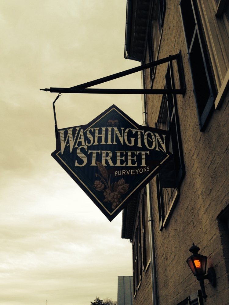 Washington Street hanging