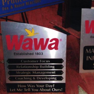 Wawa aluminum Sign Studios