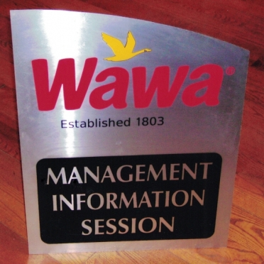 Wawa Aluminum Sign