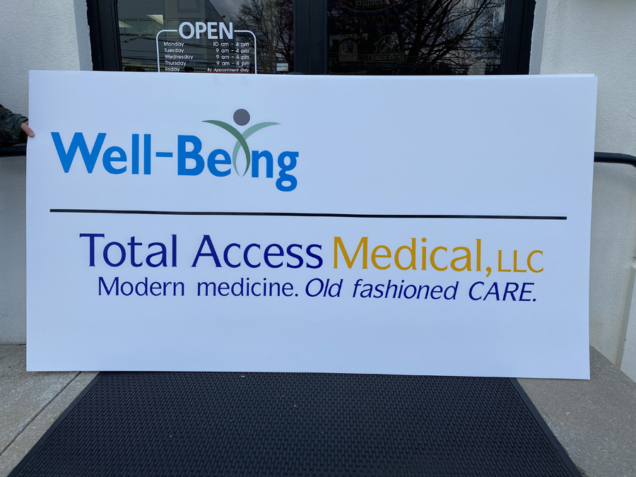 Well Being Total Access Corro Sign Studios