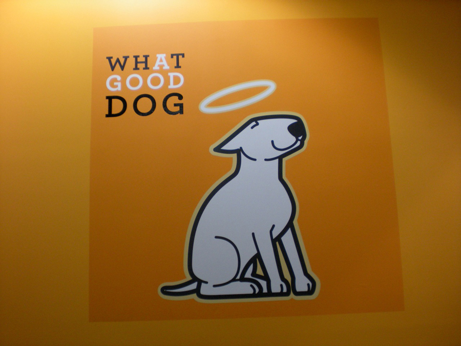 What a Good Dog 4 wall Sign Studios