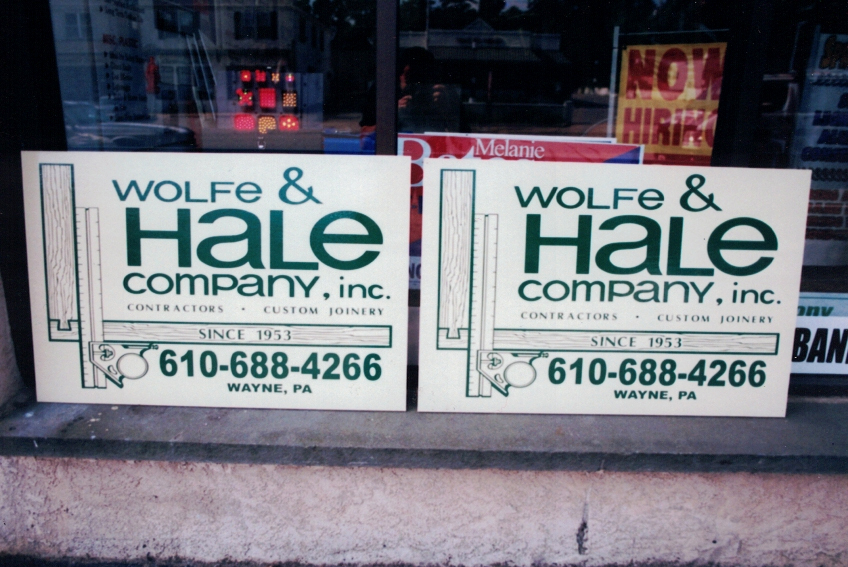 Wolfe Hale site signs Sign Studios