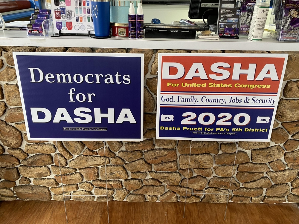 Dasha Political Signs on H-Stakes