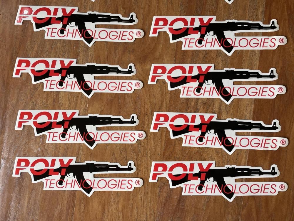 Poly Technologies Decals closeup
