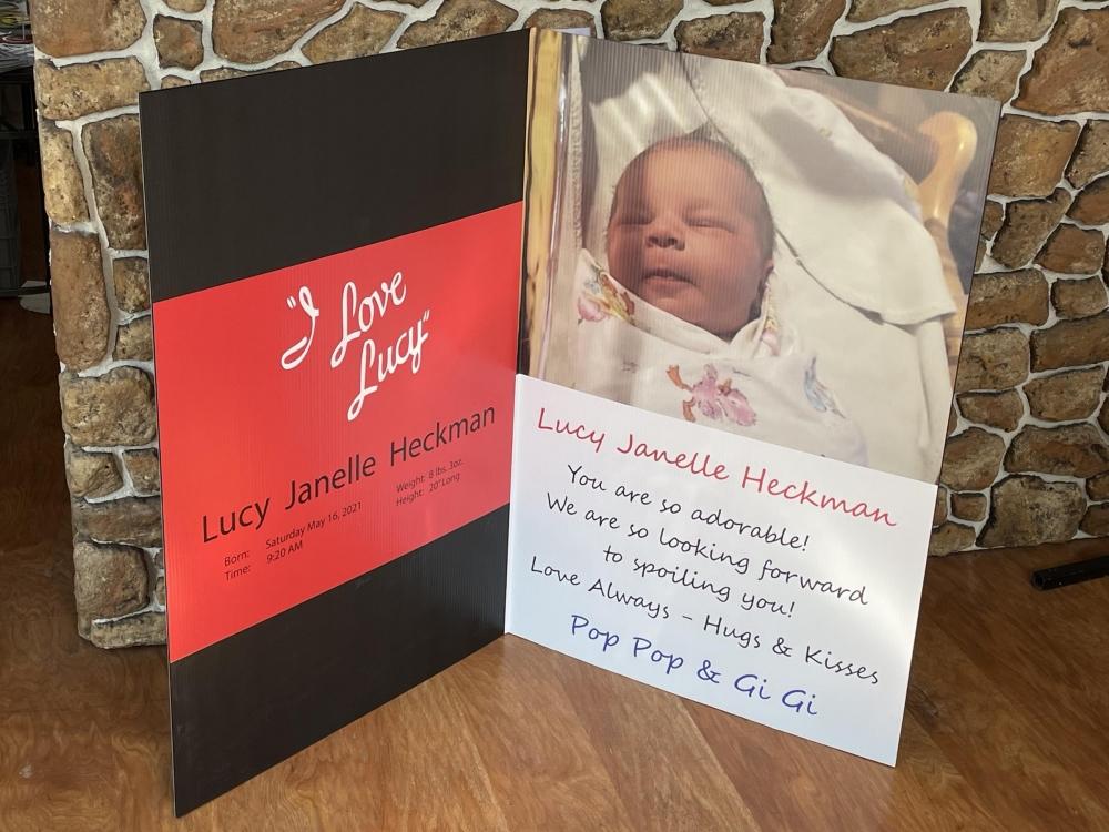 I Love Lucy Card Inside open