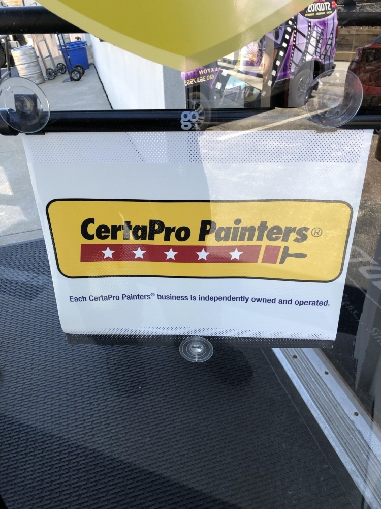 CertaPro Painters Car Window Retractable
