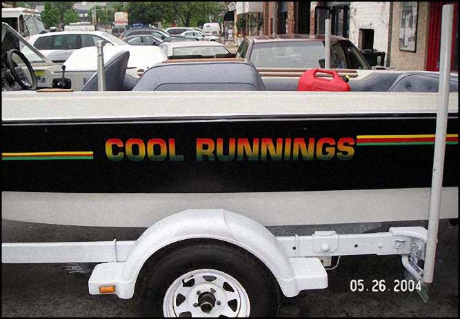 boat cool runnings Sign Studios