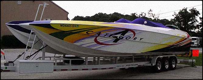 boat lettering sign boat cat 4 vehicle wraps wayne pa philadelphia pa newtown square pa Sign Studios