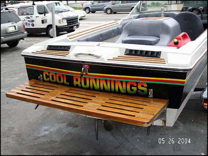 Cool Runnings Boat Back