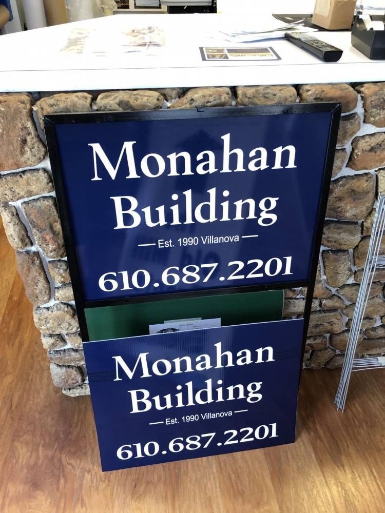 Monahan Building in Heavy Duty Frame and with H-Stakes