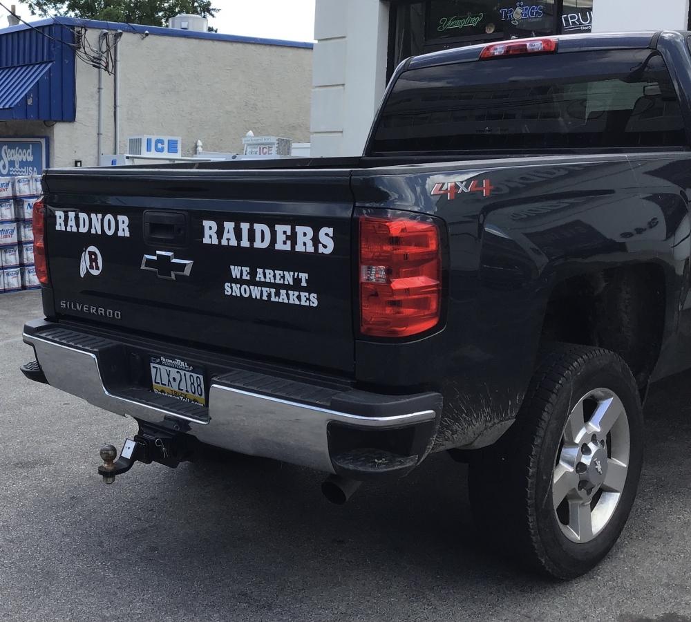 Radnor Raiders Truck Rear