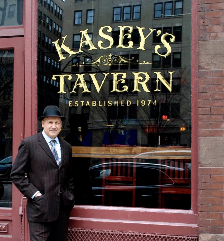 Kasey's Tavern Gold Leaf Window Lettering
