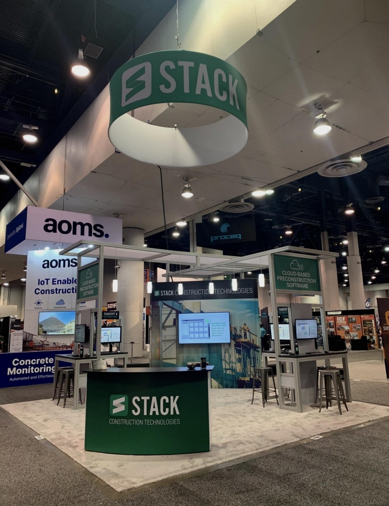 Stack Construction Technologies Tradeshow Booth
