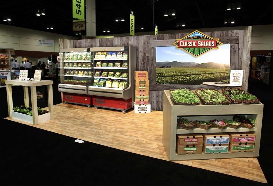 Classic Salads Tradeshow Booth