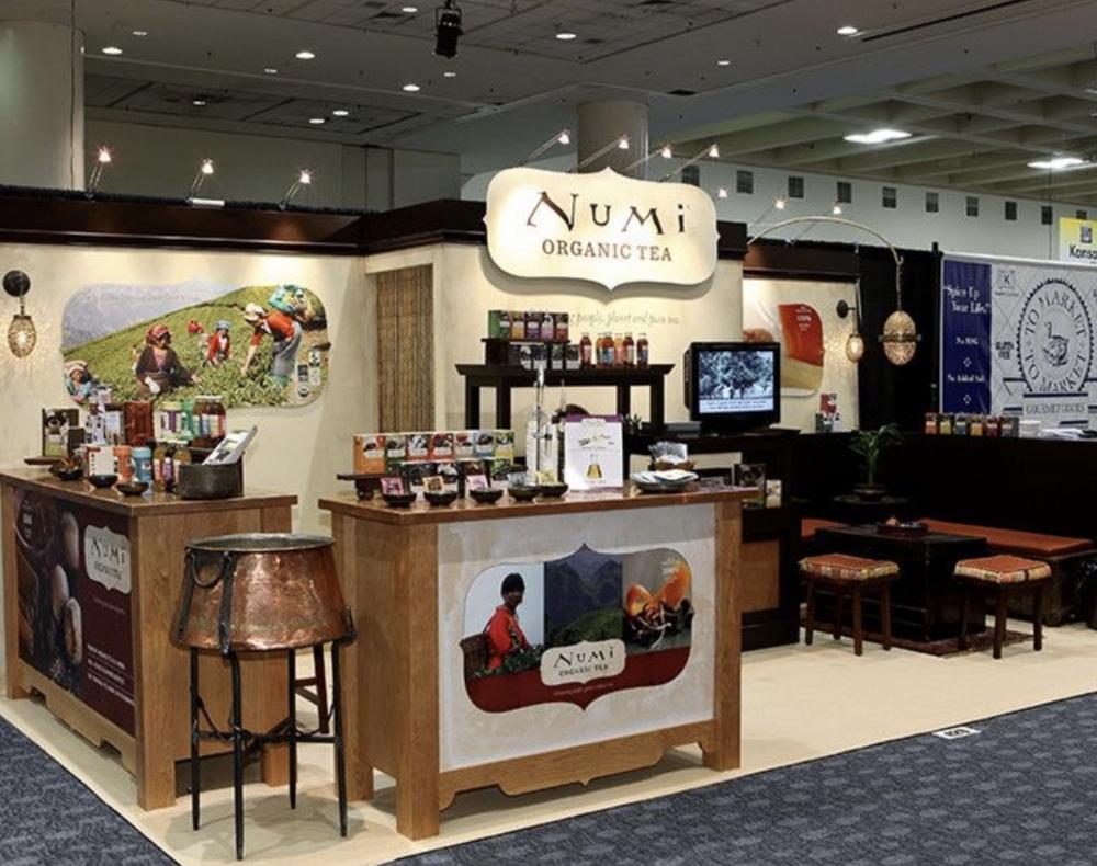 Numi Organic Tea Tradeshow Booth