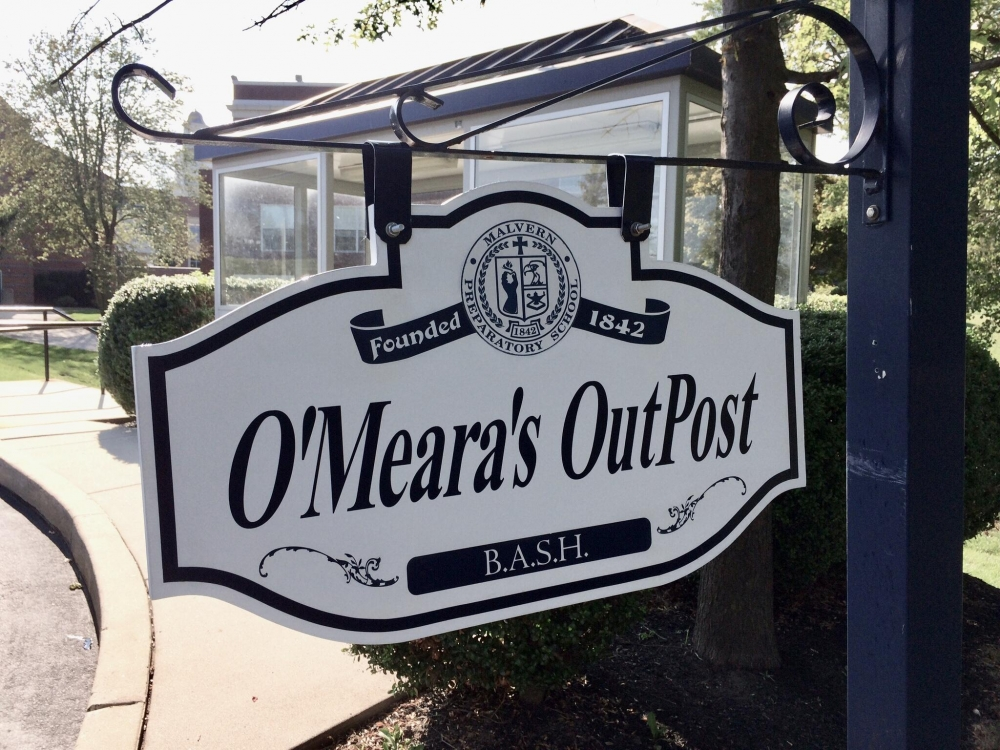 Malvern Prep O'Meara's OutPost Hanging Sign