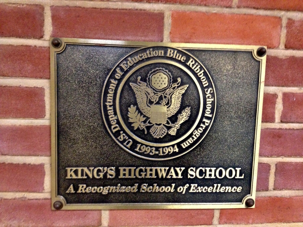 King's Highway School Plaque