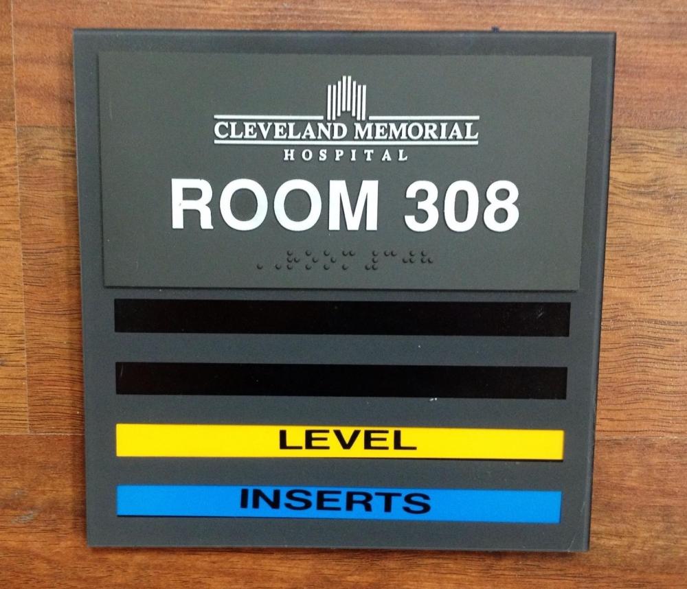 Cleveland Memorial Hospital Room Plaque