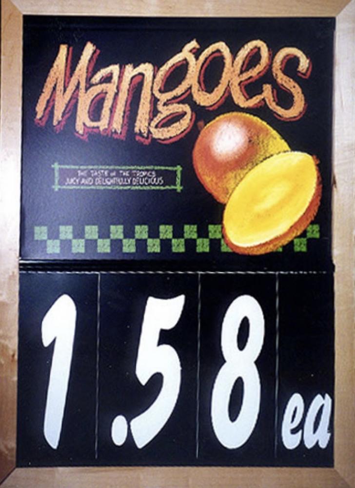 Mangos Sale Board