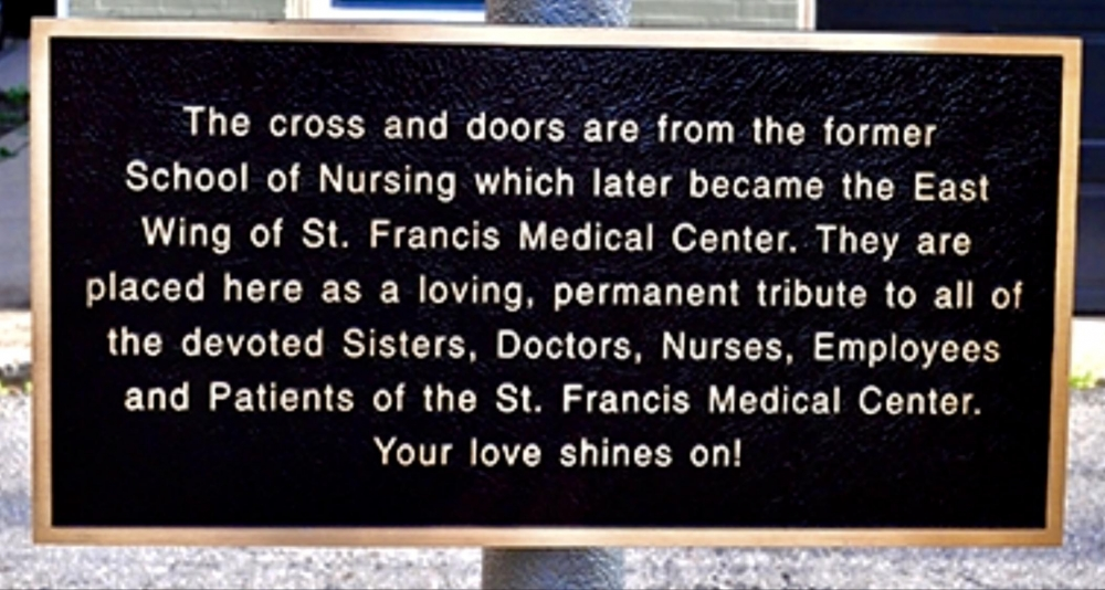 St. Francis Medical Center Tribute Plaque