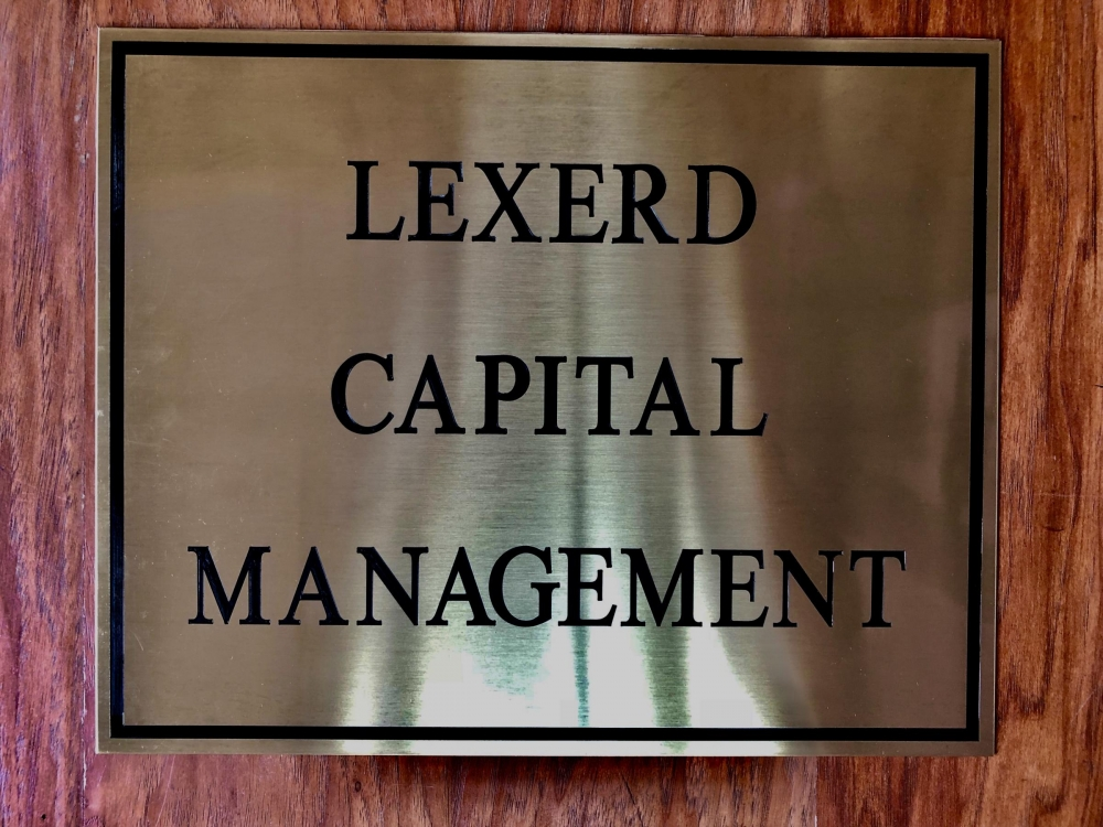 Lexerd Capital Management Plaque Sign Studios