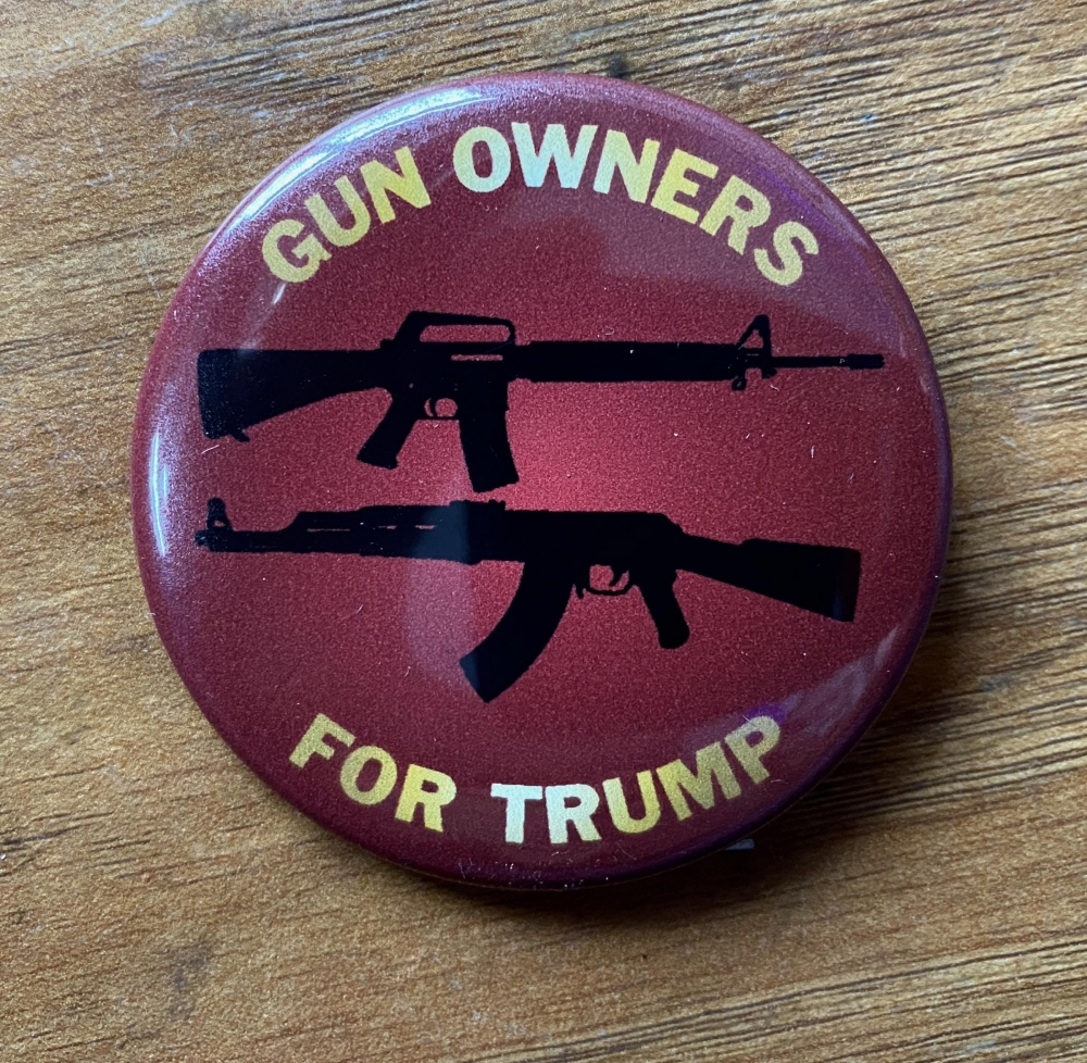Gun Owners for Trump Button Sign Studios