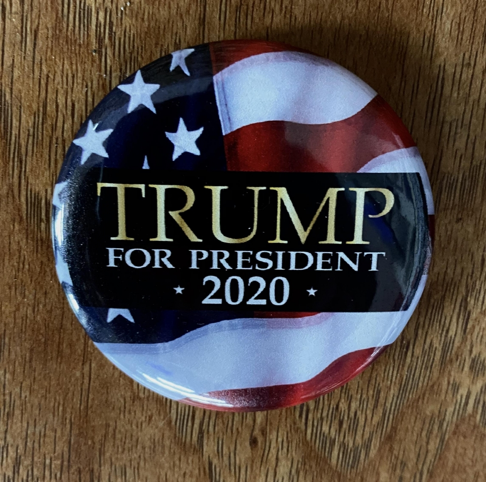 Trump for President American Flag Button Sign Studios