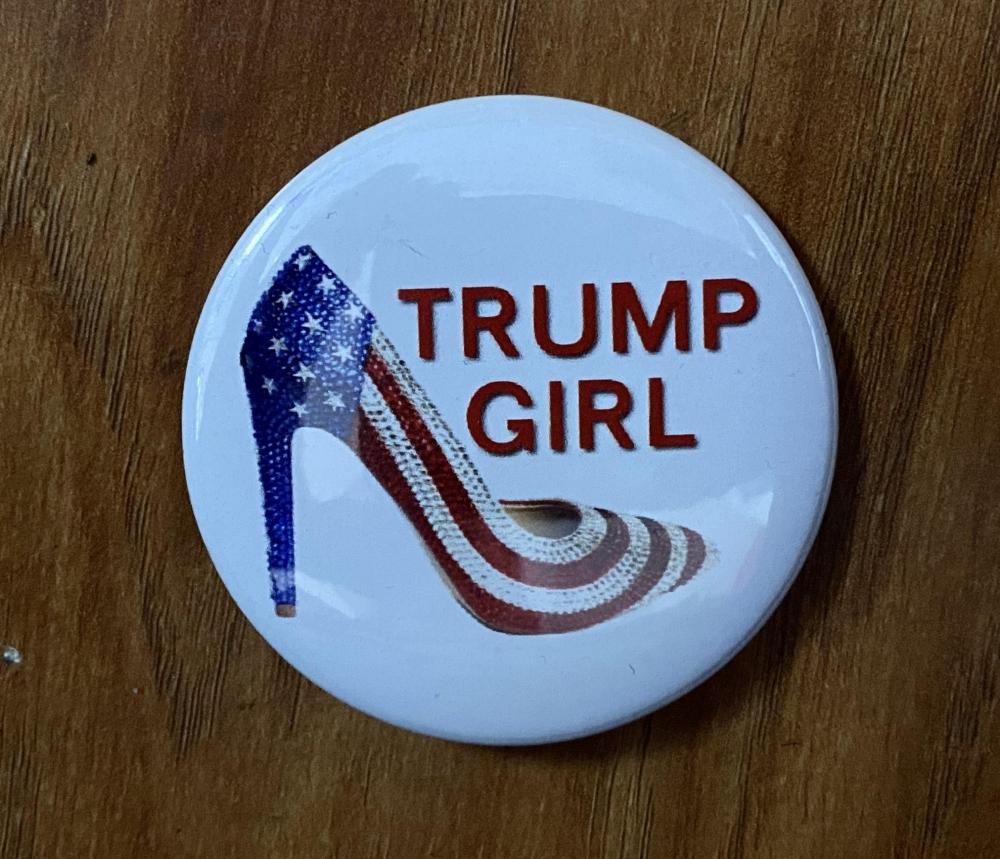 Trump Girl Button