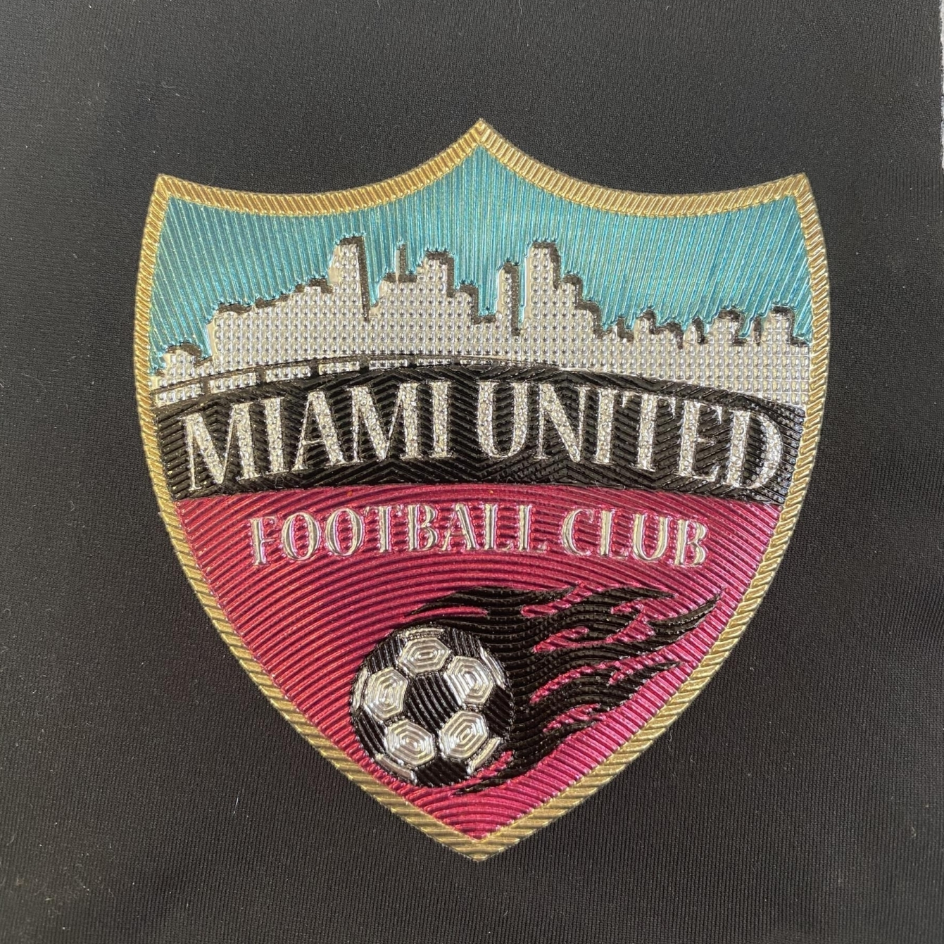 Miami United Football Club Patch Sign Studios