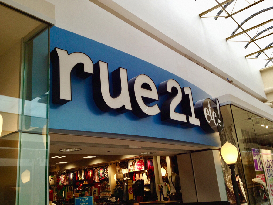 material types-channel letters-Rue 21 day Sign Studios