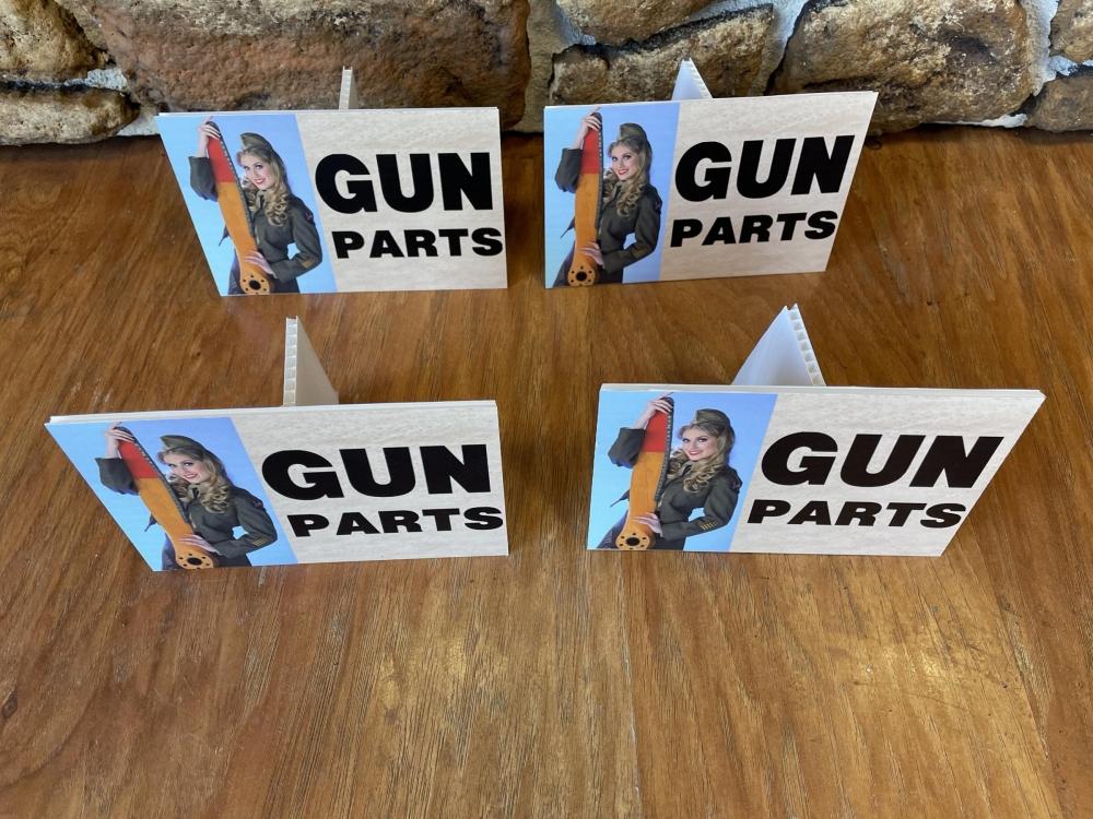 Gun Show Gun Parts Signs