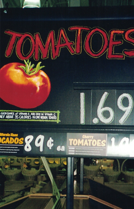 tomatoes grocery Sign Studios