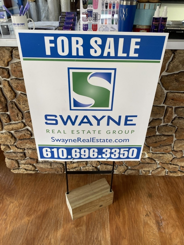Swayne Sign on Heavy Duty Stake