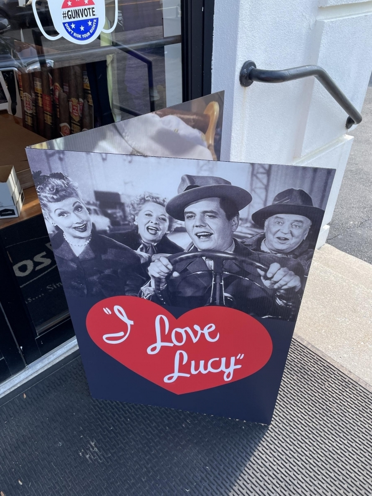 I Love Lucy Card Outside