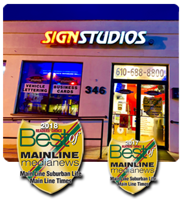 The Front of Our Sign Company in Wayne, PA
